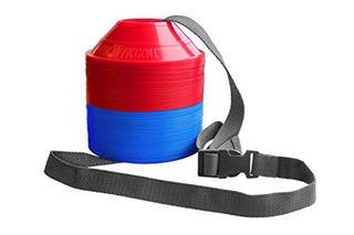 Kwik Goal Mini Disc Cone Kit (paquete De 50), Azul / Rojo
