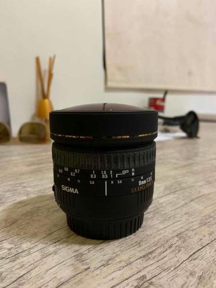 Lente 8mm F3.5 Sigma Para Canon