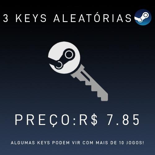 3 Steam Keys Aleatórias - Menor Preço