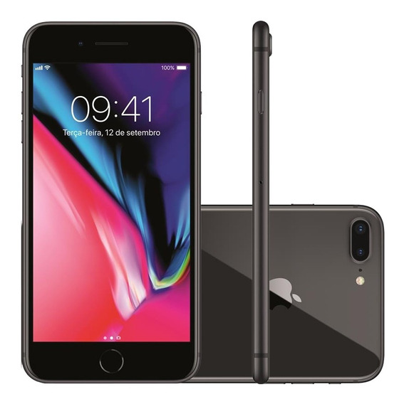 iPhone 8 Plus Apple 4g Ios 12 64gb Câmera 12mp Tela Retina H