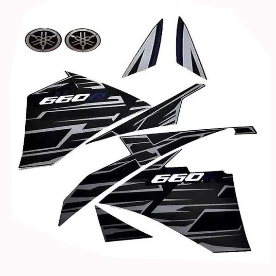 Kit Faixa Adesivo Preto Xt660 2015 2016 2017 Emblema Brinde