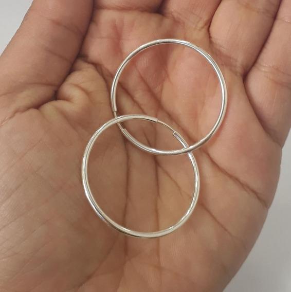 Brinco Argola Feminino Em Prata 925 Pequena