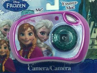 Cámara De Juguete De Frozen Con Elsa Y Anna