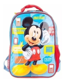 Mochila Mickey Mouse 12 Espalda Jardin - Original