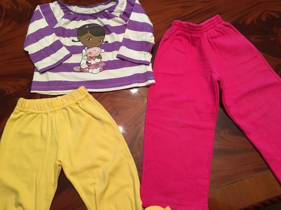 Lote Niña 3 Años: Remera Pupera Importada+2 Pantalones