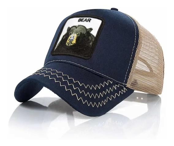 Gorra Oso Bordada Animales Unisex Envío Gratis Azul Bear