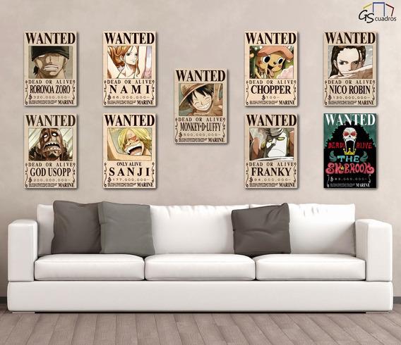 Cuadros Wanted One Piece ( Set De 9 Cuadros ) Gs Cuadros