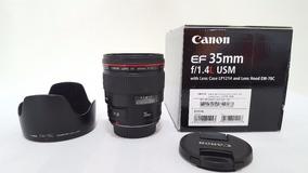 Lente Canon 35mm F/1.4 Muito Nova