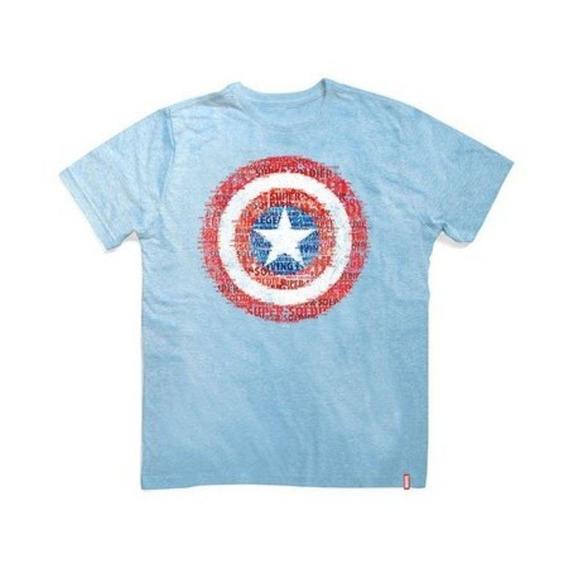 Camiseta Unissex Marvel Capitão América Escudo Studio Geek