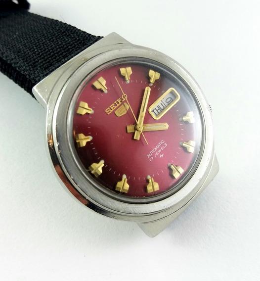 Relógio Seiko 7009 8190 Vinho