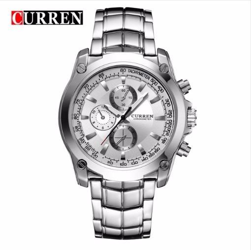 Relógio Masculino Aço Inox Curren 8025 Pronta Entrega