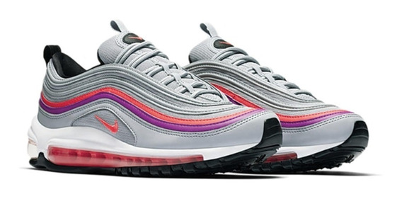Zapatillas Nike Air Max 97 Wolf Grey Plomo Rosado // 2018