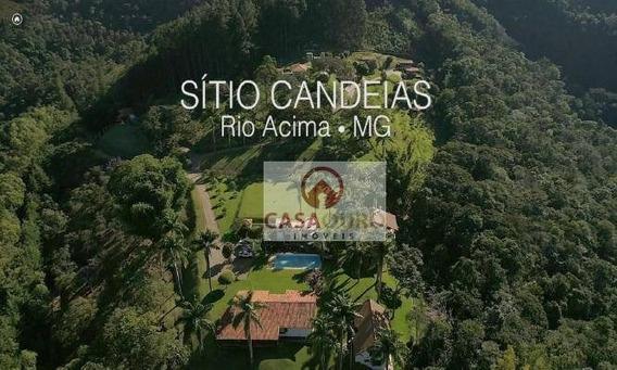 Sítio Com 10 Dormitórios À Venda, 300000 M² Por R$ 3.800.000 - Jardins Das Montanhas - Rio Acima/mg - Si0002
