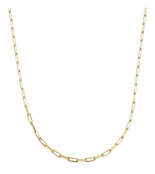 Corrente Cordão Masculina 50cm 3mm Folheado Ouro Semi Jóia