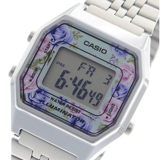 Relógio Casio Feminino Mini La680wa-2cdf Prata Original