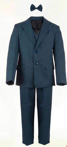 Traje Sastre De Vestir Para Niño Color Azul Pizarra Primera