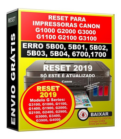 Reset Para Canon G1900 Erro 5b00 5bo2