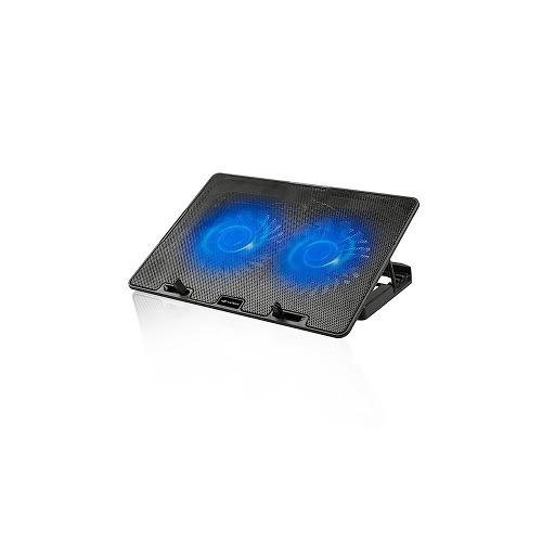 Base Notebook 2 Cooler Led Azul C3tech Nbc-50bk Apoio Suport