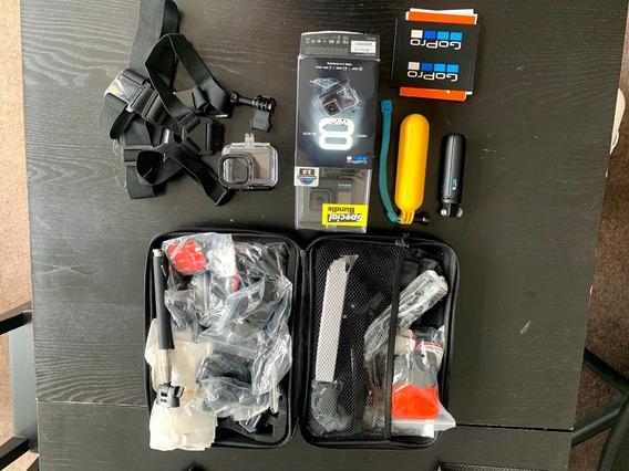 Gopro Hero 8 Black Com 2 Baterias + Caixa De Proteção + Case