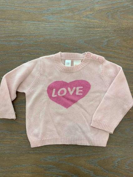 Sweater Buzito De Nena Talle 6 - 12 Meses Gap