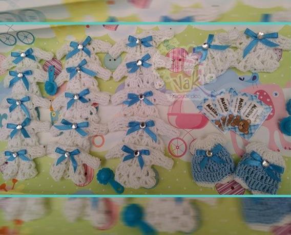 50 Distintivos Recuerdos Crochet Baby Shower Bautizo
