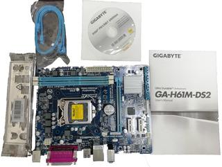 Motherboard Ga-h61m-ds2 Tajreta Madre Gigabyte Dual Uefi Bio
