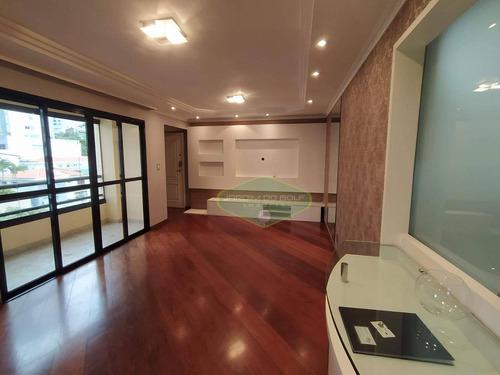 Apartamento Para Alugar, 125 M² Por R$ 4.500,00/mês - Vila Mascote - São Paulo/sp - Ap2159