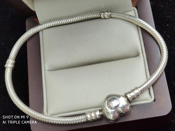 Pulsera De Plata Pandora Tipo Corazón