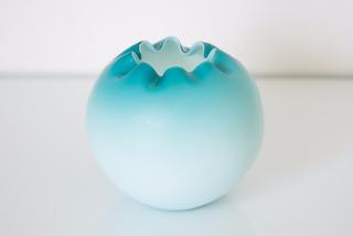 Florero Ingles En Cristal De Bristol Color Azul