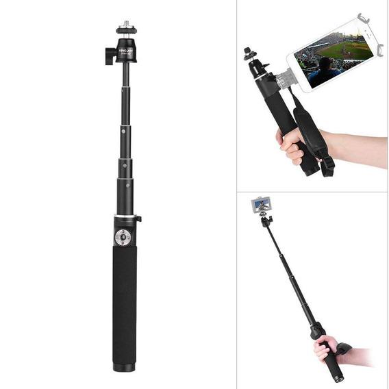 Bastão De Selfie Retrátil Com Holder Lateral Para Smartphone E Câmeras De Ação Kingjoy