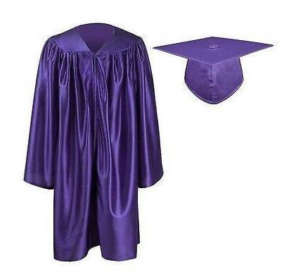 Graduationmall Nuevo Púrpura Unisex Tamaño 27 Zipped Fr-1313