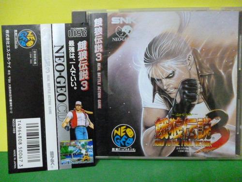 Fatal Fury 3 Neo Geo Cd Original Spine Card Completo Japão