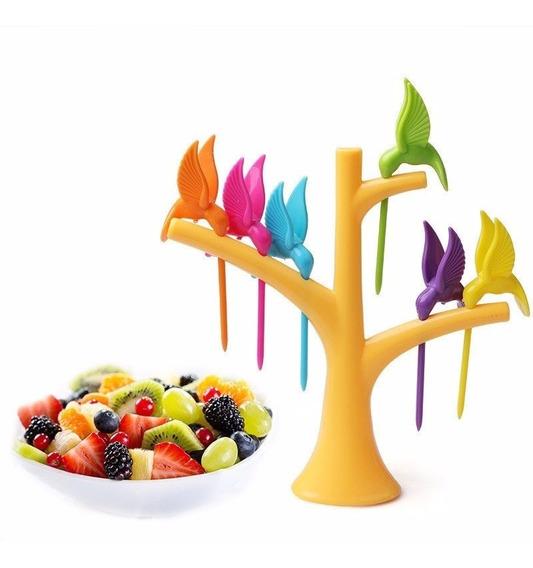Palillero Pinche Picada Fruta Copetinero Arbol Colibrí