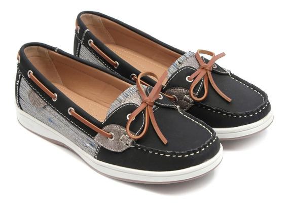 Mocasin Zapato Mujer Nautico Eco Cuero Lady Stork #3