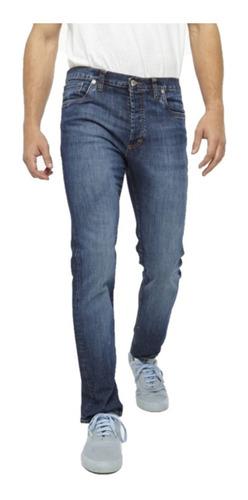 Jeans Hombre Bensimon Ultra Confort Gold Recto Tiro Bajo