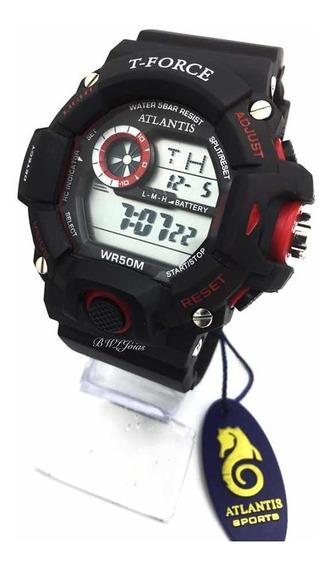 Relógio Masculino Atlantis T Force G5517 Vermelho