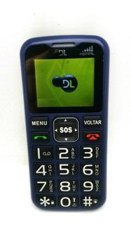 Celular Bom P/ Idoso Dl Yc-120 Rádio Função Sos Antena Rural
