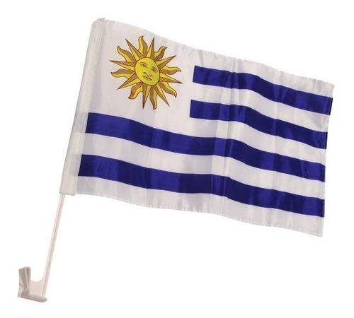 Bandera De Uruguay Para Auto Por Mayor - 10 Unidades