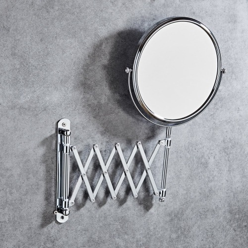 Espejo Vanidad Hotel Montado Pared Baño Plegable Doble