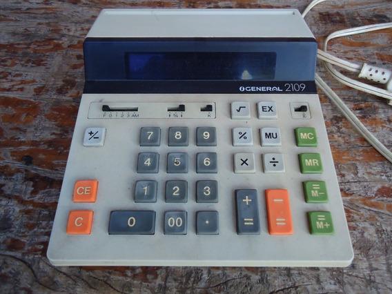 Antiga Calculadora Eletrônica General 2109 Funcionando 110 V