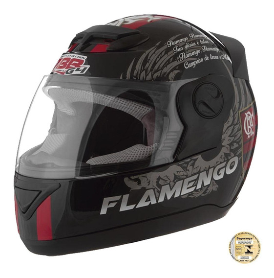 Capacete Integral Liberty Evolution G4 Flamengo Pro Tork