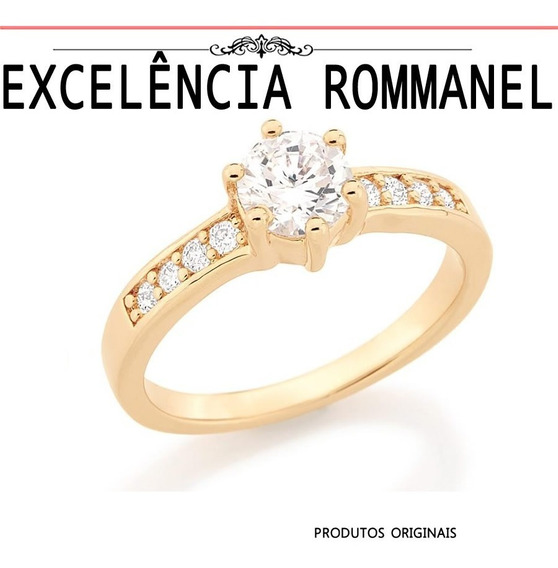 Anel Aliança Solitario Nove 9 Zirconias 511652 Rommanel
