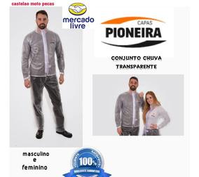 Conjunto Chuva Motoqueiro Pvc Transparente