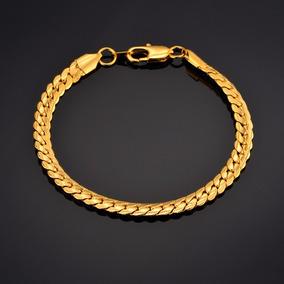 Bracelete Pulseira Moda Nova Unissex Jóias Banhada De Ouro