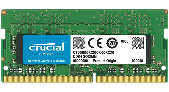 Memoria Crucial 8gb 2400mhz Ddr4 P/ Notebook Ct8g4sfs824a