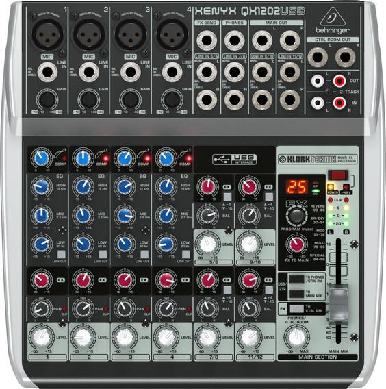 Mesa De Som Behringer Xenyx Qx1202usb Mixer + Nf + Garantia