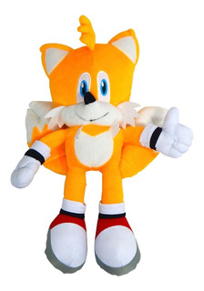 Sonic Peluche Tails Miles Prowe Erizo Amarillo 37cm Hedgehog
