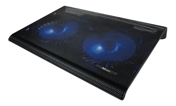 Base Para Notebook Trust Azul Cooler Iluminado 2 Fan Usb Cta