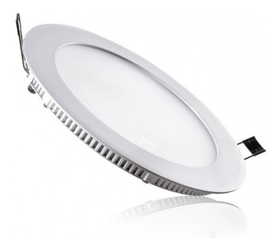 15 Painel Plafon 12w Luminaria Led Slim Redondo Spot Embutir