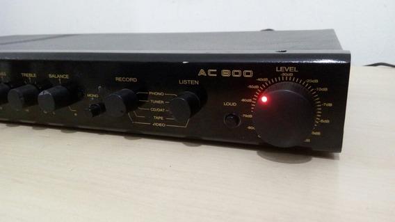 Amplificador Unic Ac800 Funcionando Ok